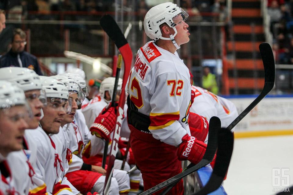 Sillanpäälle kertyi kolme KHL-ottelua.