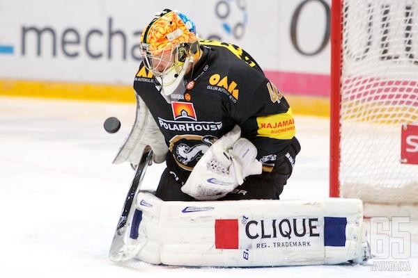 Jussi Rynnäs piti maalinsa jälleen puhtaana.