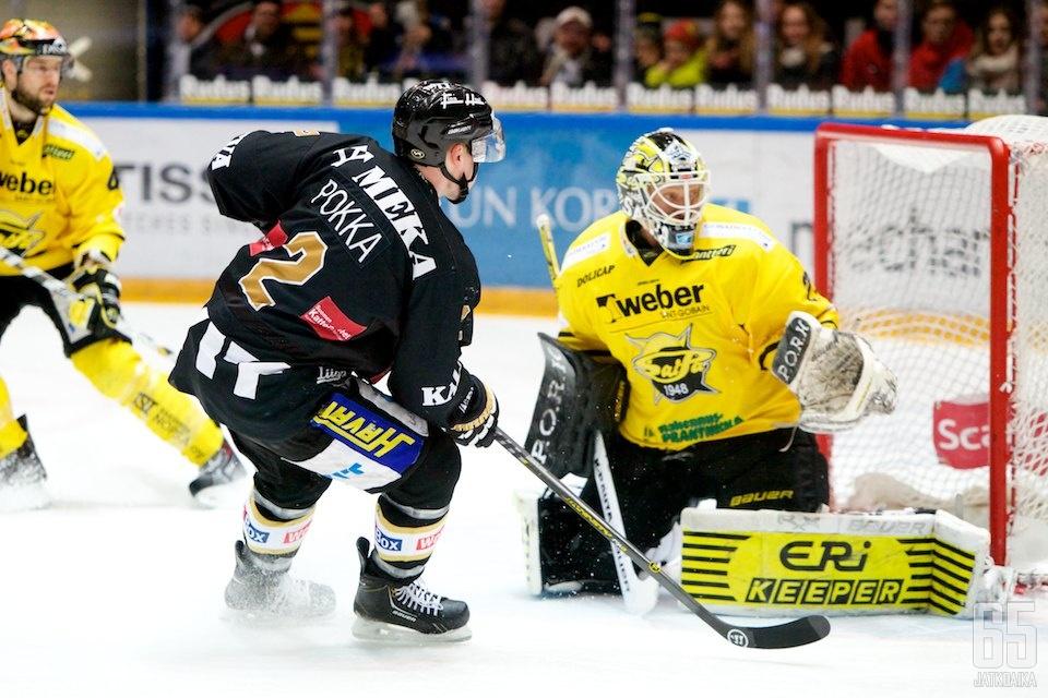 Ville Pokka onnistui maalinteossa kahteen otteeseen.