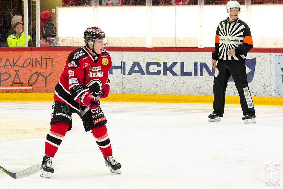 Matias Varttinen on ollut pudotuspeleissä hyvässä vauhdissa, vaikka tehopisteet ovatkin miestä vielä väistelleet.