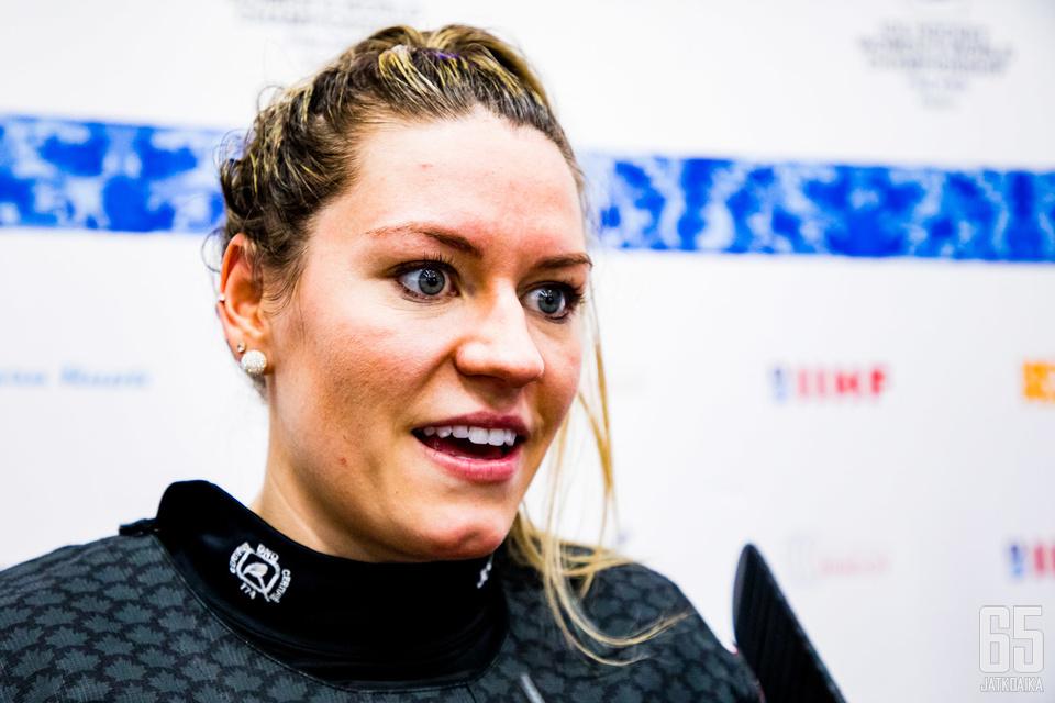 Positiivinen tunnelma paistoi Natalie Spoonerin kasvoilta pelin jälkeen.
