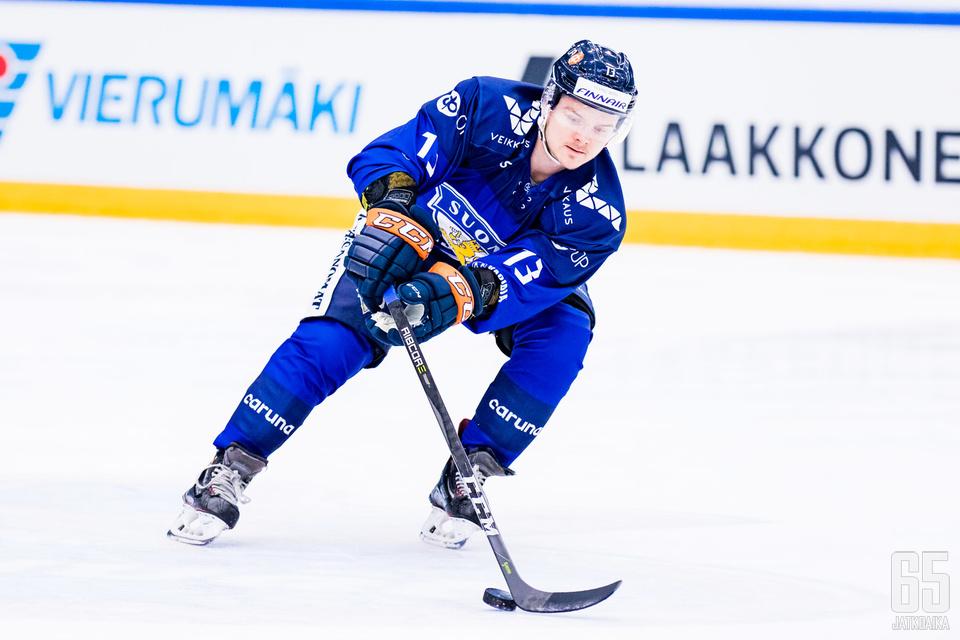 Julius Junttila metsästi Tšekki-ottelussa yhden syöttöpisteen.