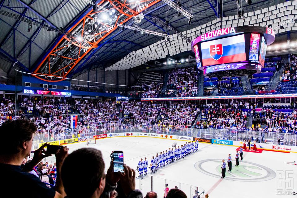 Slovakian MM-kisojen A-lohkon ottelut pelattiin Košicessa.