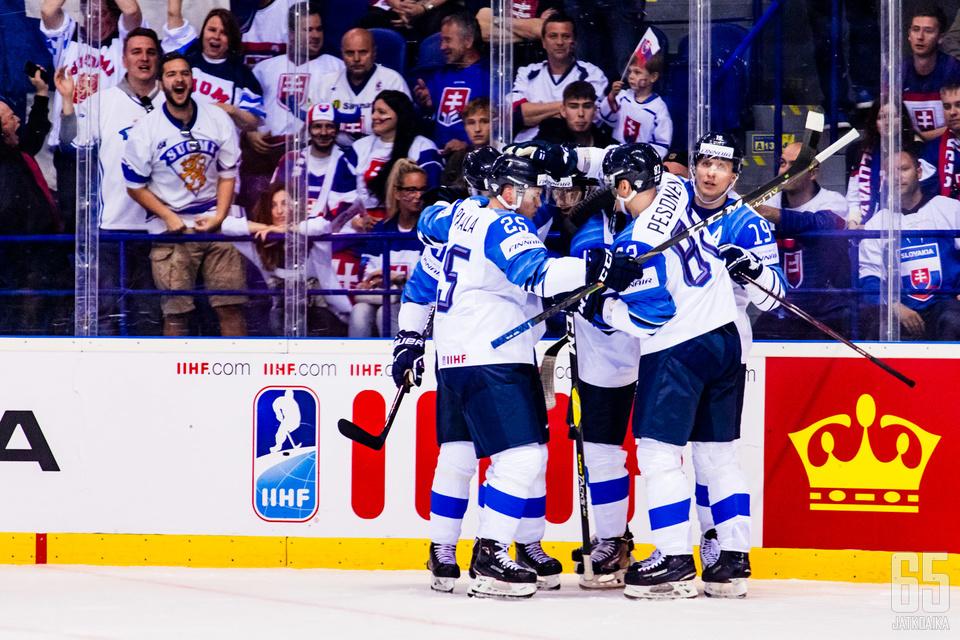 Suomi juhli jo toistamiseen täyttä pistepottia.