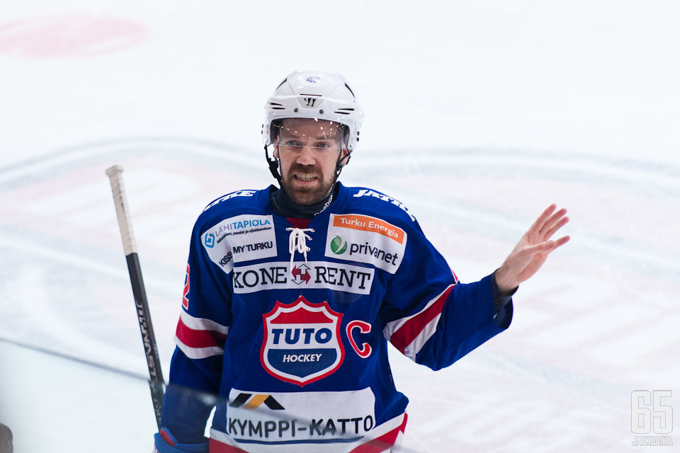 Antti Virtanen toimi pelaajauransa kolmella viimeisellä kaudella TUTOn kapteenina.