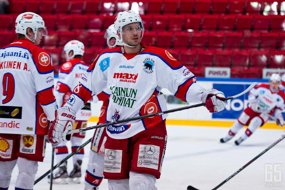 Matus Vizvary pelasi loppukauden Kajaanissa.