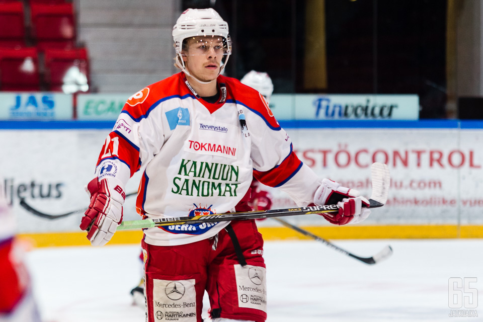 Christoffer Seppelin oli edellisellä kaudella Kajaanin Hokin kärkihyökkääjiä.