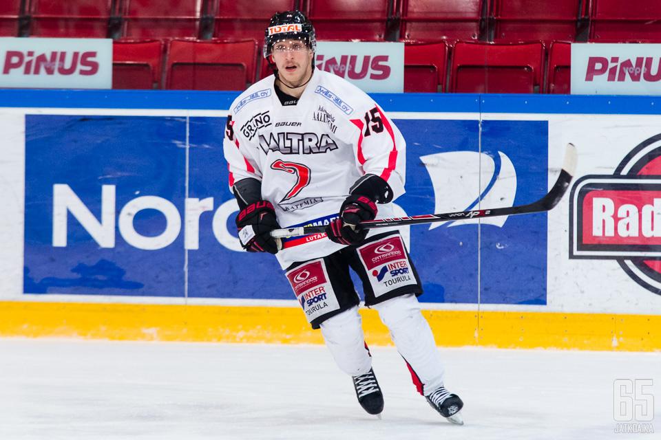 Markkula oli viime kaudella JYP-Akatemian tehokkain pelaaja.