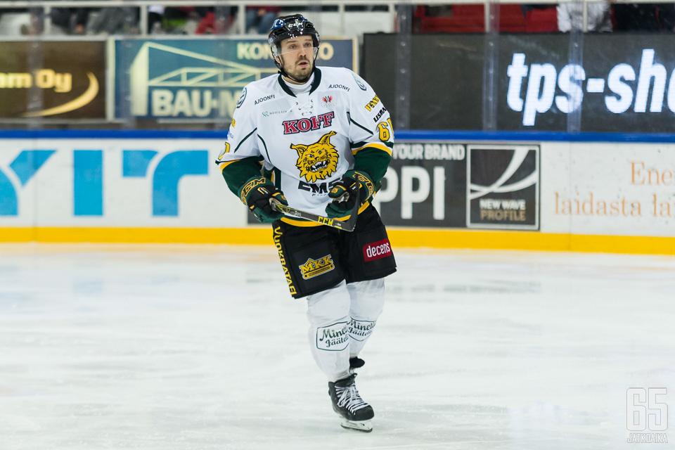 Jaatinen pelasi osan viime kaudesta Ilveksessä.