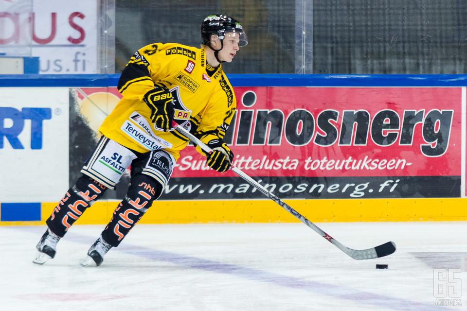 Otto Leskinen nakutti Sportia vastaan tehot 1+2.