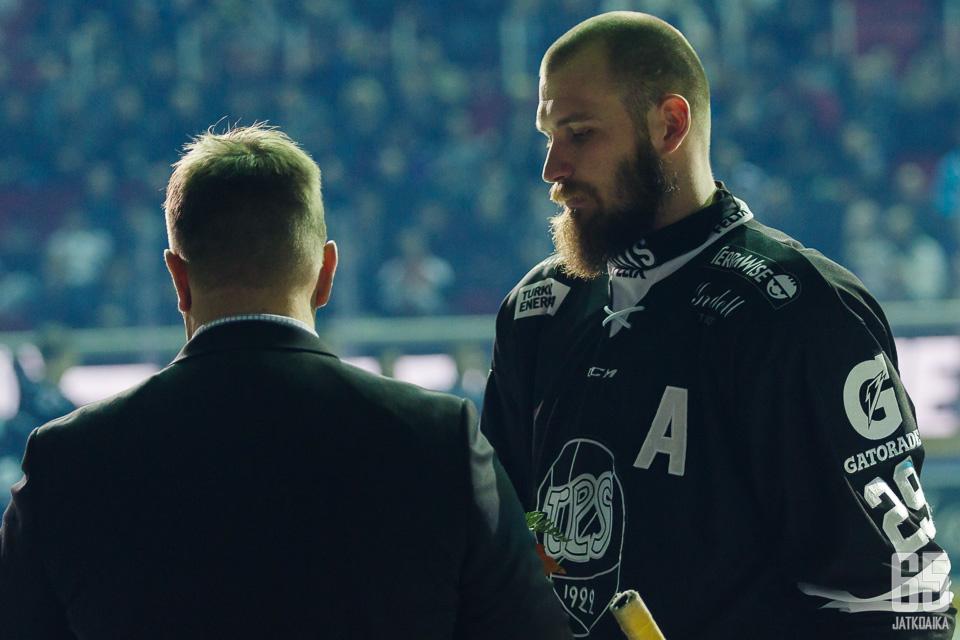 Jonne Virtanen on ollut TPS:n varakapteeni.