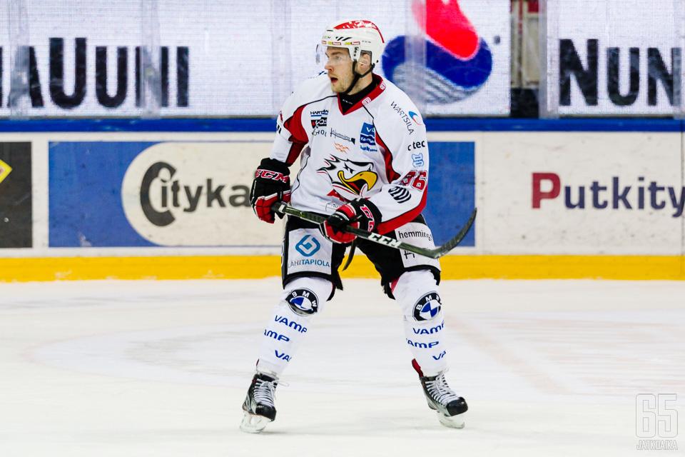 TUTOn Lassi Kokkala pelasi hyvän ottelun.