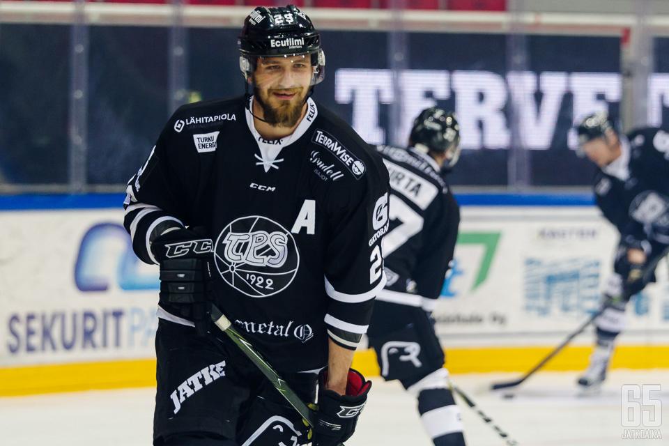 Virtanen on yksi TPS:n varakapteeneista.