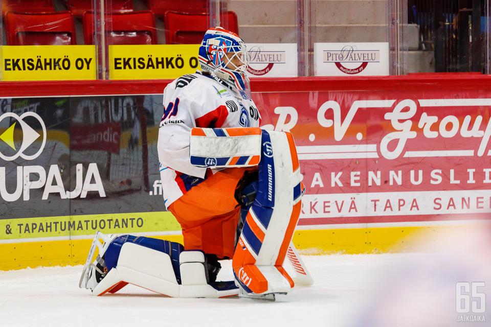 Tappara-maalilla loistanut Christian Heljanko on tuttu näky myös LeKi-paidasta.