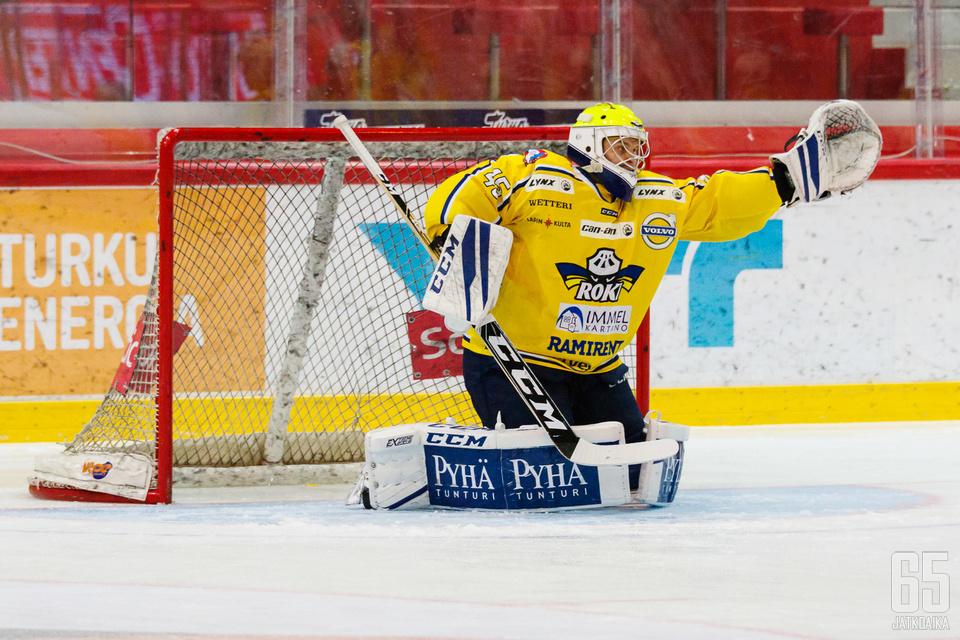 RoKin veräjänvartija Rasmus Reijola piti Tikkurilassa nollan.