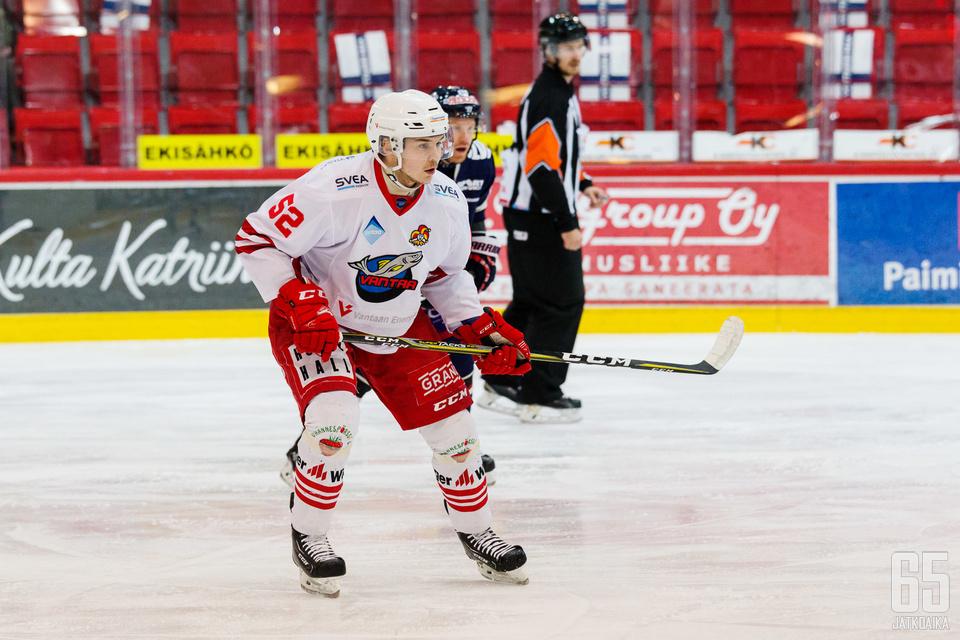 Miro Mäkinen iski keskiviikkona tehopisteet 1+1.