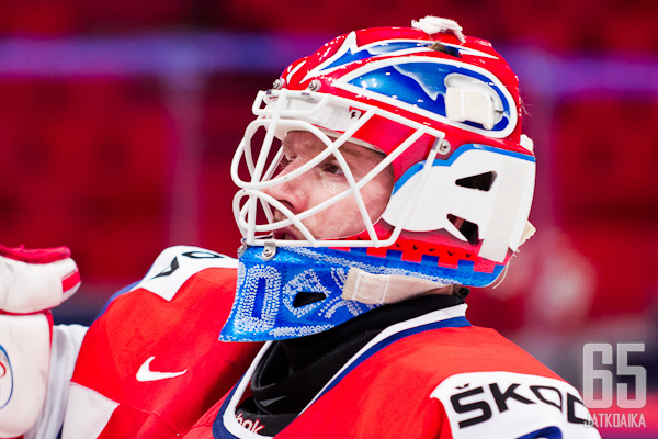 Lars Haugen vartioi Färjestadin maalia.