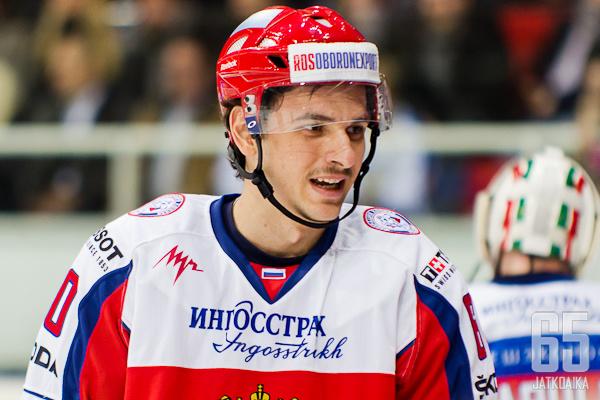 Artem Anisimov aloitti maalinteon Sveitsiä vastaan.