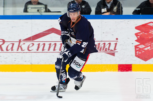 Jani-Petteri Helenius on pelannut pääosan miesten peleistään Kiekko-Vantaassa.