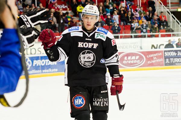 Korpikoski kantoi TPS-paitaa viimeksi työsulkukaudella 2012-13.