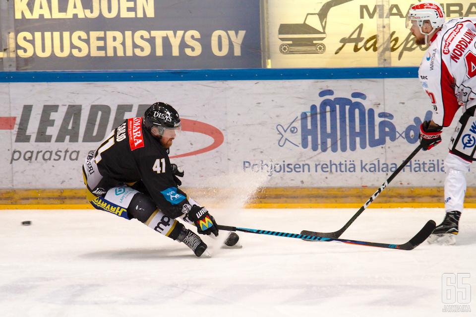 Kahden maalin mies Jari Sailio oli Raksilan tiistai-illan avainhahmo Kärppien kaataessa Vaasan Sportin lukemin 5-1.