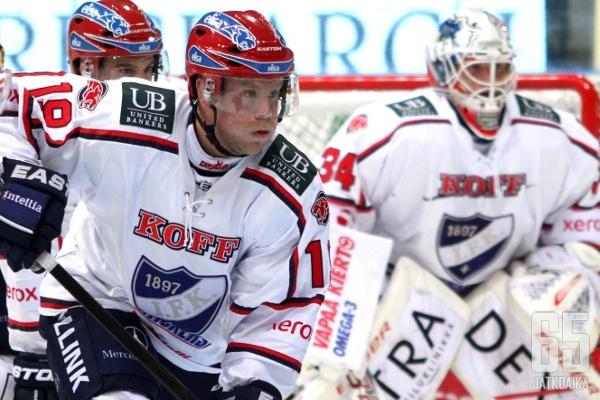 HIFK-hyökkääjä Roope Talaja on joutunut sairauslomalle.