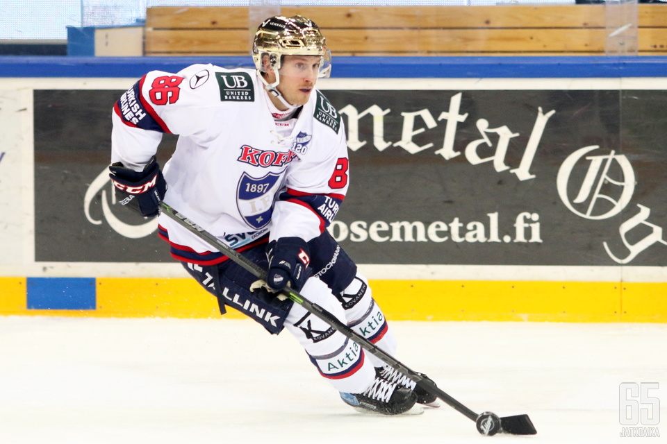 HIFK:n Erik Thorell oli Liigan tulokuningas.