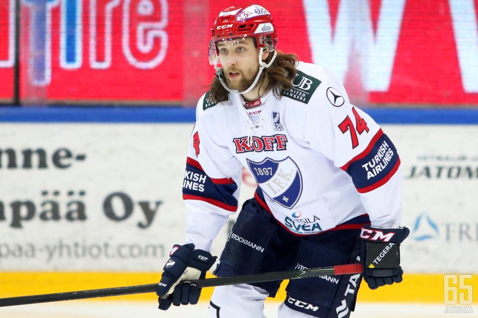 Muun muassa HIFK:ta aiemmin edustanut Tamminen vahvistaa Kiekko-Vantaan hyökkäystä loppukauden.