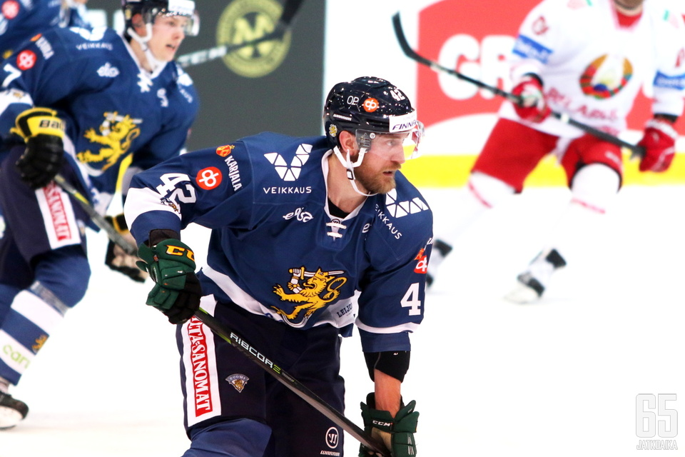 Sandell pelasi keväällä ensimmäiset pelinsä Leijonissa 31-vuotiaana.