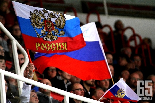 Venäjän lippuja ei nähdä olympialaisissa.