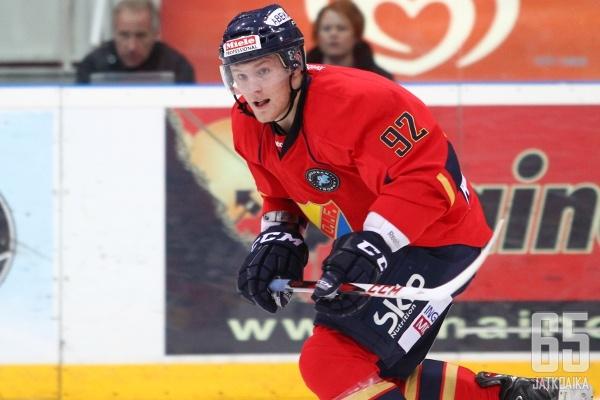 Gabriel Landeskog ei syttynyt Turkuhallissa.