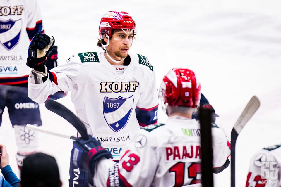 Eilen Tapparaa vastaan Michael Keränen iski tehot 2+0=2, kun HIFK voitti kirvesrinnat vieraissa 4−1.