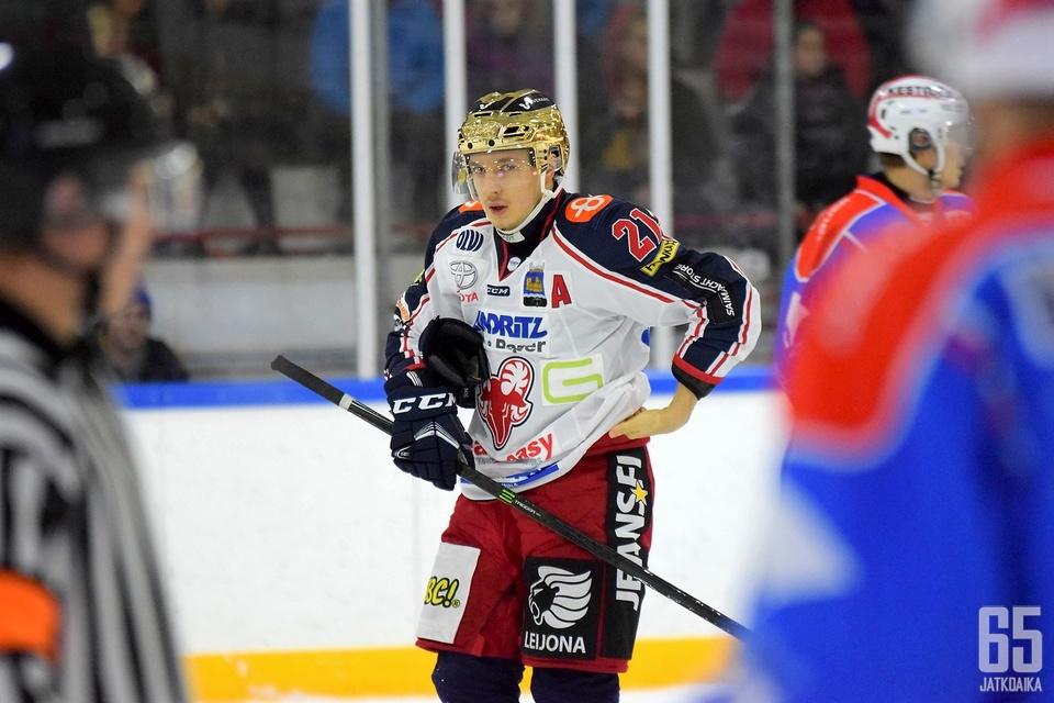 Rasmus Hämäläinen tehoili kolmen syöttöpisteen edestä.