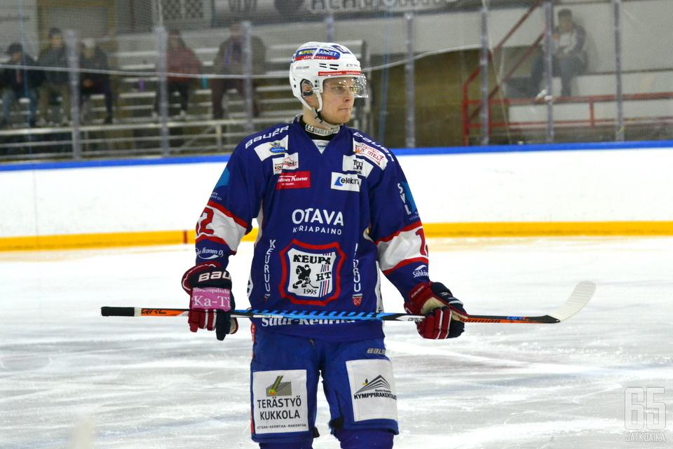 Juuso Rämö pelasi jo viime viikon keuruulaisten riveissä.