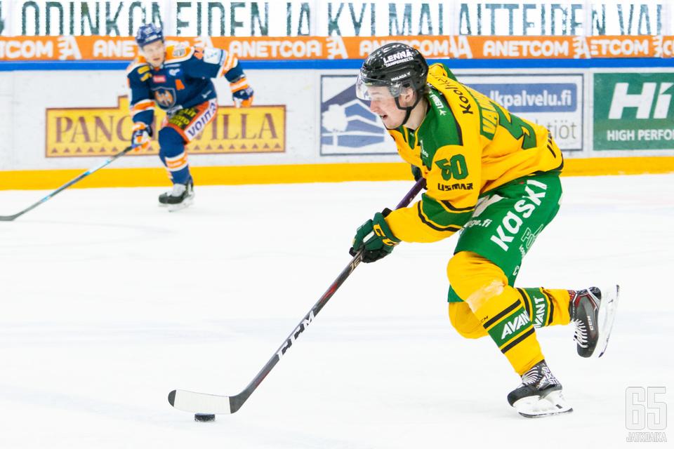 Vainionpää hoiti nelossentterin roolinsa myös nuorten MM-kisoissa mestarillisesti.