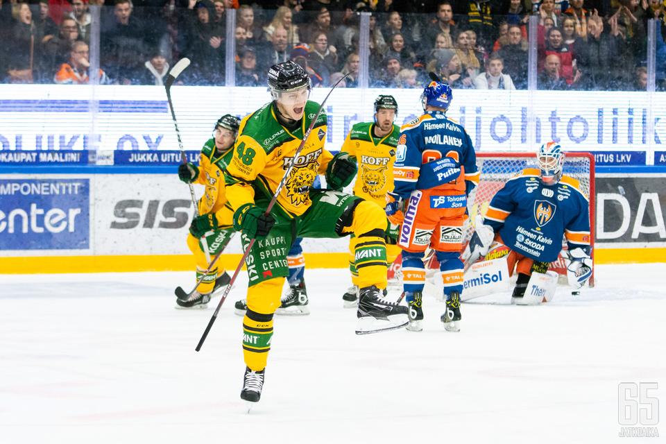 Ilves kaatoi viime viikon perjantaina Tampereen derbyssä Tapparan.