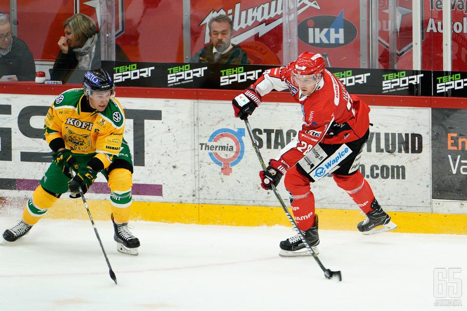 Markus Nenonen teki HIFK:ta vastaan kaksi maalia.