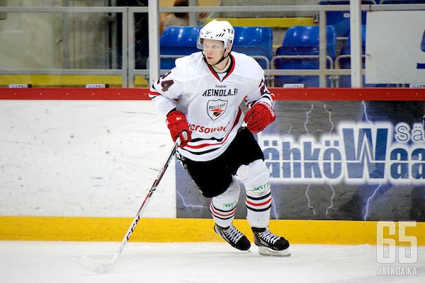 Tuukka Rajamäki kirjautti itselleen voittomaalin lisäksi yhden syöttöpisteen.