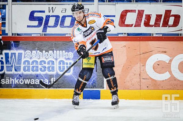 Jussi Nättinen pelasi kolme kautta Kouvolan KooKoossa.