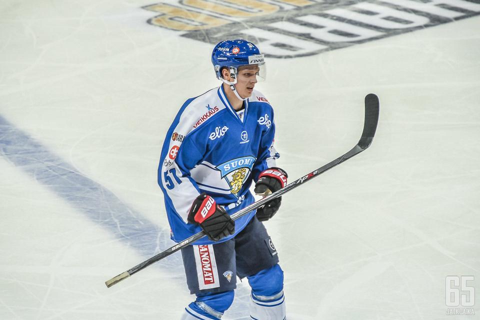 Näkyvä sai toissa kaudella kokemusta myös Suomen A-maajoukkueessa.