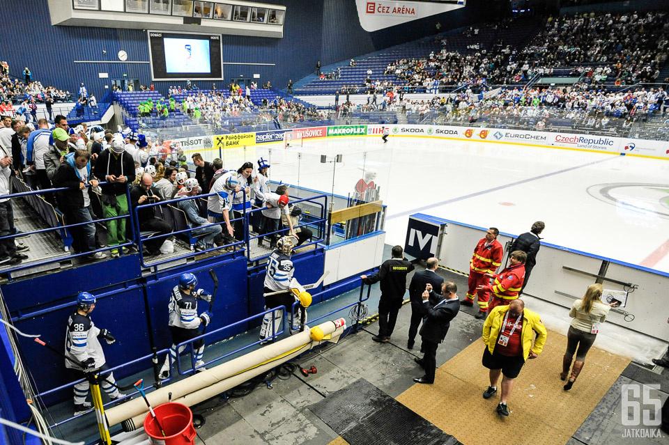 Ostravassa pelattiin vuoden 2015 MM-kisoja.