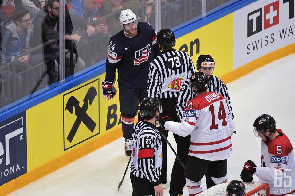 Yhdysvallat ja Kanada kiistelevät paremmuudesta MM-avauksessa.