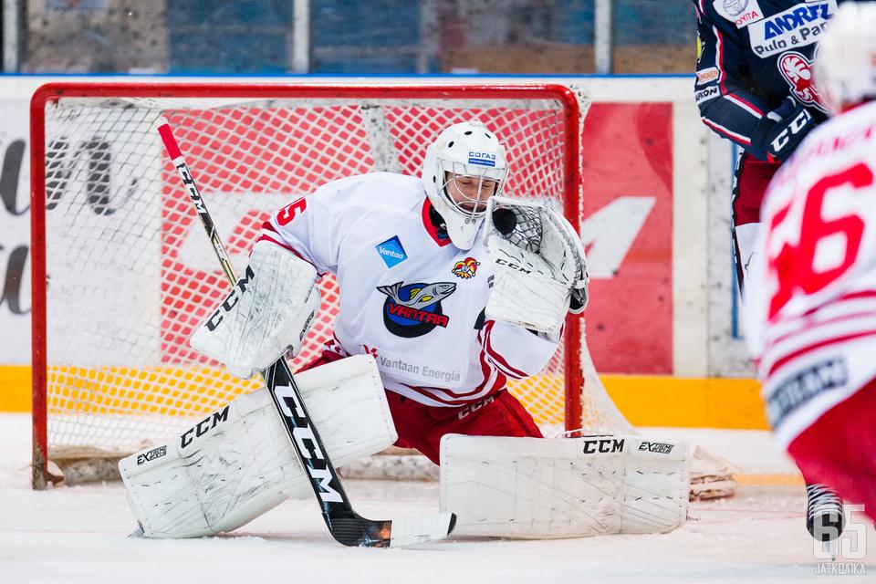 Juho Ratilainen pelasi hyvän ottelun lauantaina.