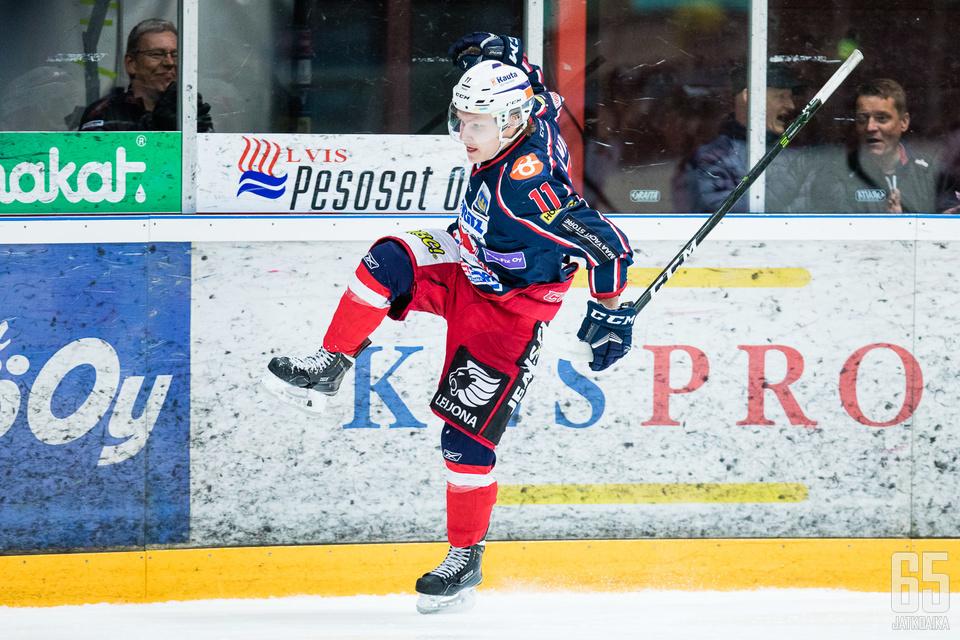 Matias Lainio teki pudotuspeleissä 11 maalia.