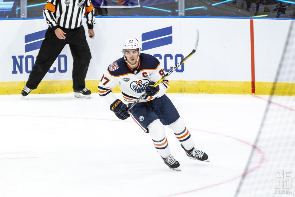 McDavid on jälleen ehdolla NHL:n merkittävimmäksi pelaajaksi.