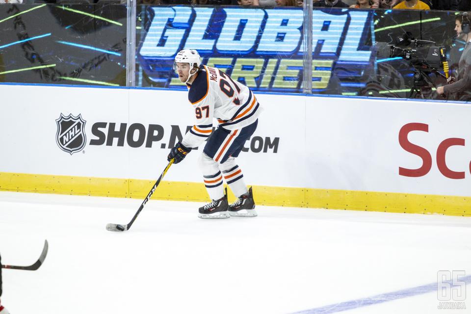 Connor McDavid sai NHL-uransa ensimmäisen pelikiellon.