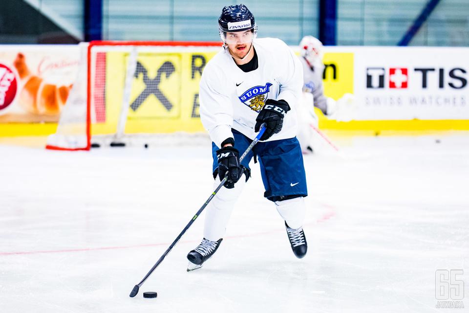 Oliwer Kaski on toistaiseksi alustanut yhden maalin MM-kisoissa.