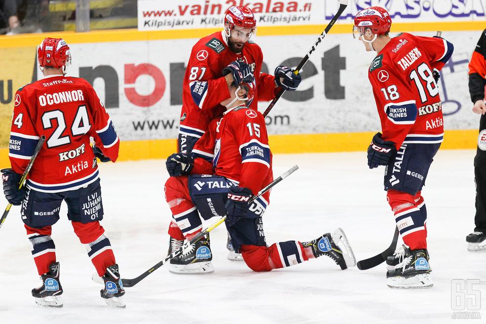 Anton Lundell ratkaisi kahdella maalillaan ottelun Kuopiossa.