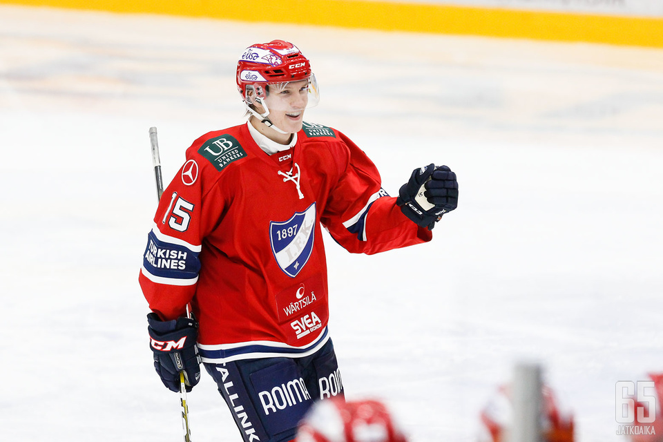 Anton Lundell esiintyi viime kaudella HIFK:ssa.