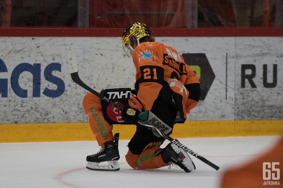 Malte Strömwall onnistui kerryttämään ainoastaan jäähytiliään.